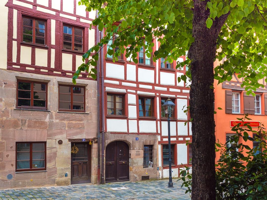 Historic Weißgerbergasse Nuremberg