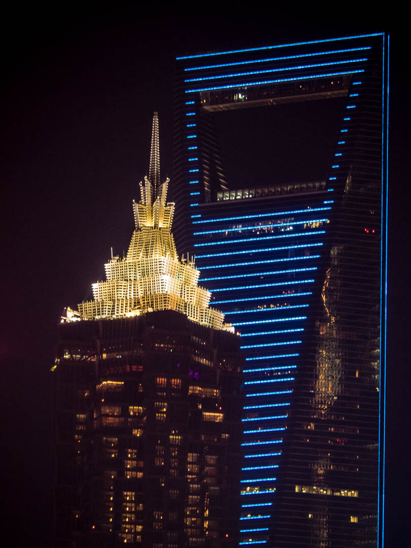 Jin Mao Tower and World Financial Center