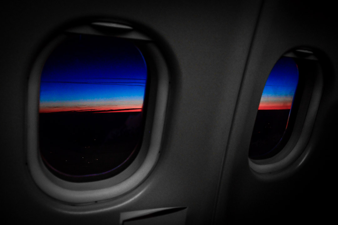 Morning Airplane Window