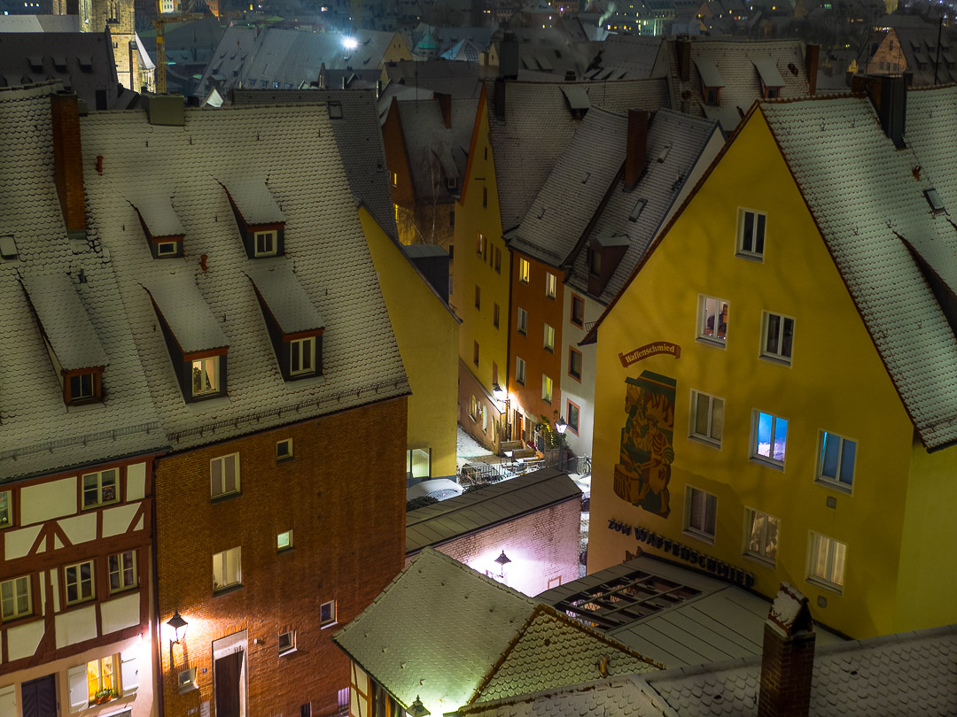nuremberg old town in winter 16