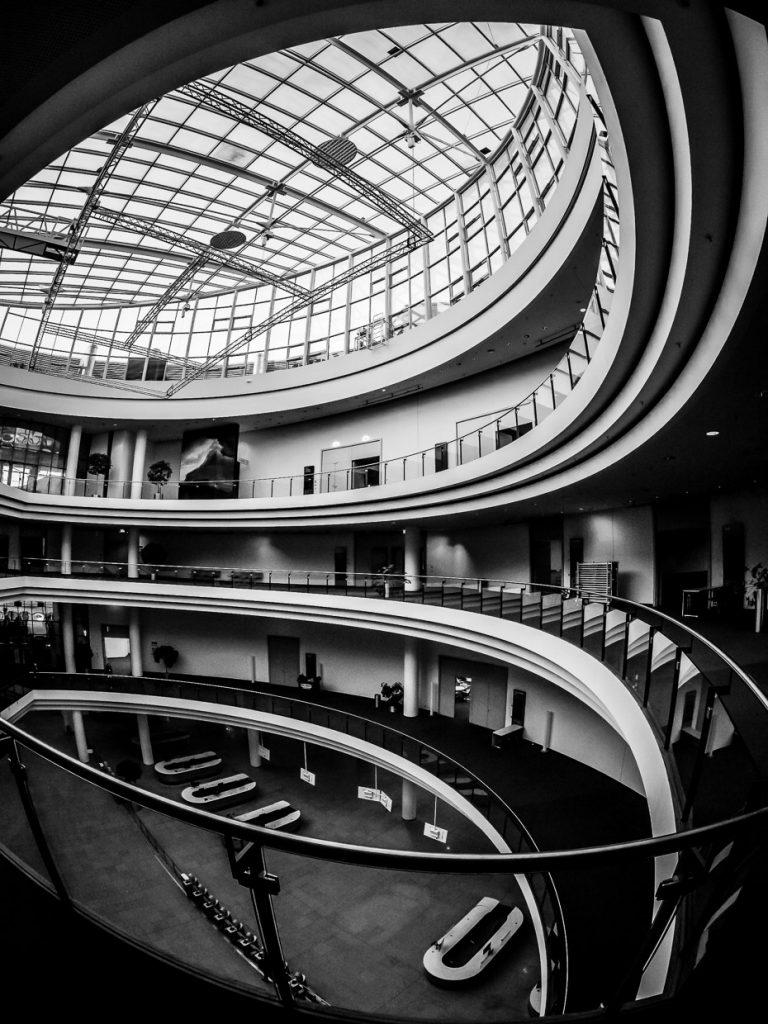 Fisheye photo of NürnbergMesse Entrance Hall