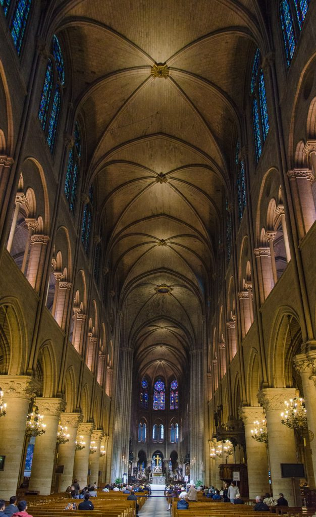 Interior of Notre Dame de Paris