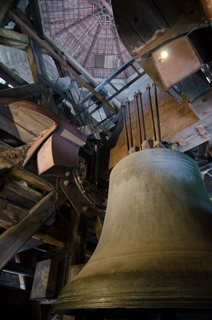 Giant bells in the towers of Notre Dame de Paris
