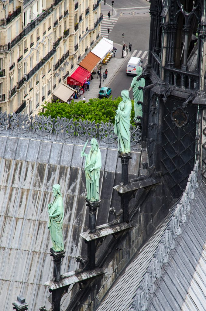 Rescued statues below the lost spire