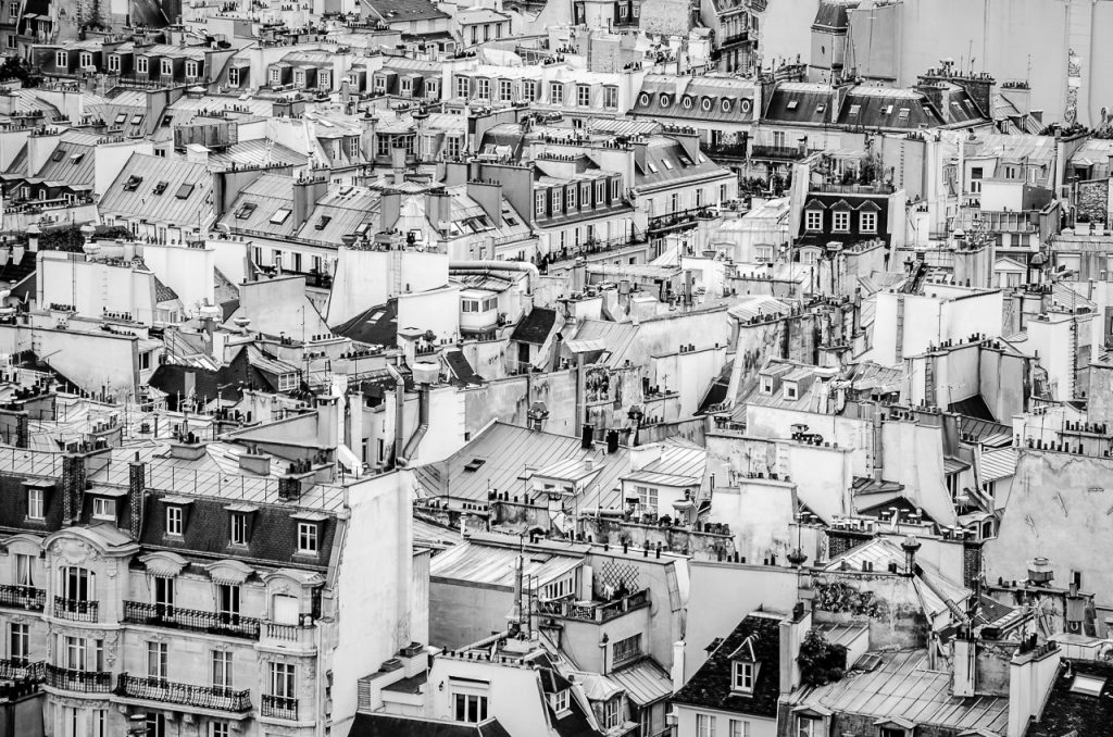 Roofs of Paris from the towers of Notre Dame de Paris