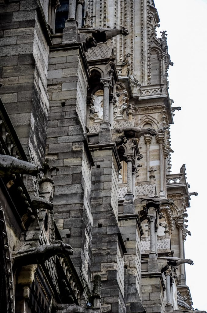 Facade Detail with Gargoyles