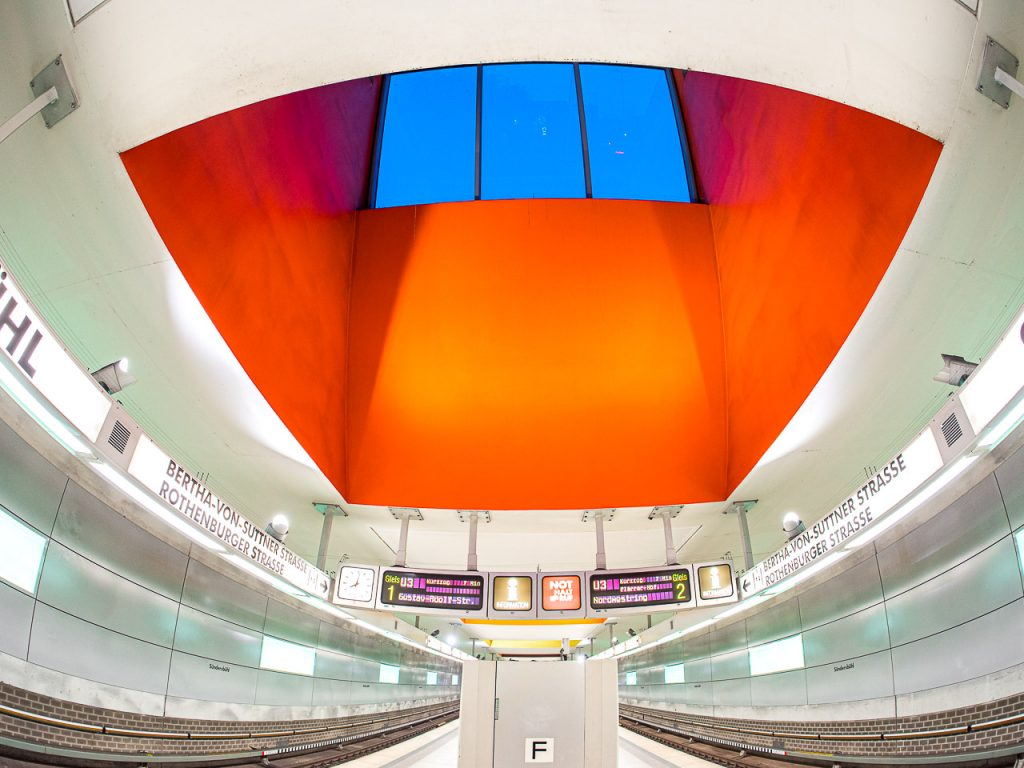 Fisheye view of Subway Station Nuremberg