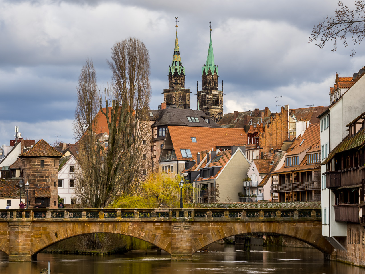 Nuremberg Old Town and Pegnitz River