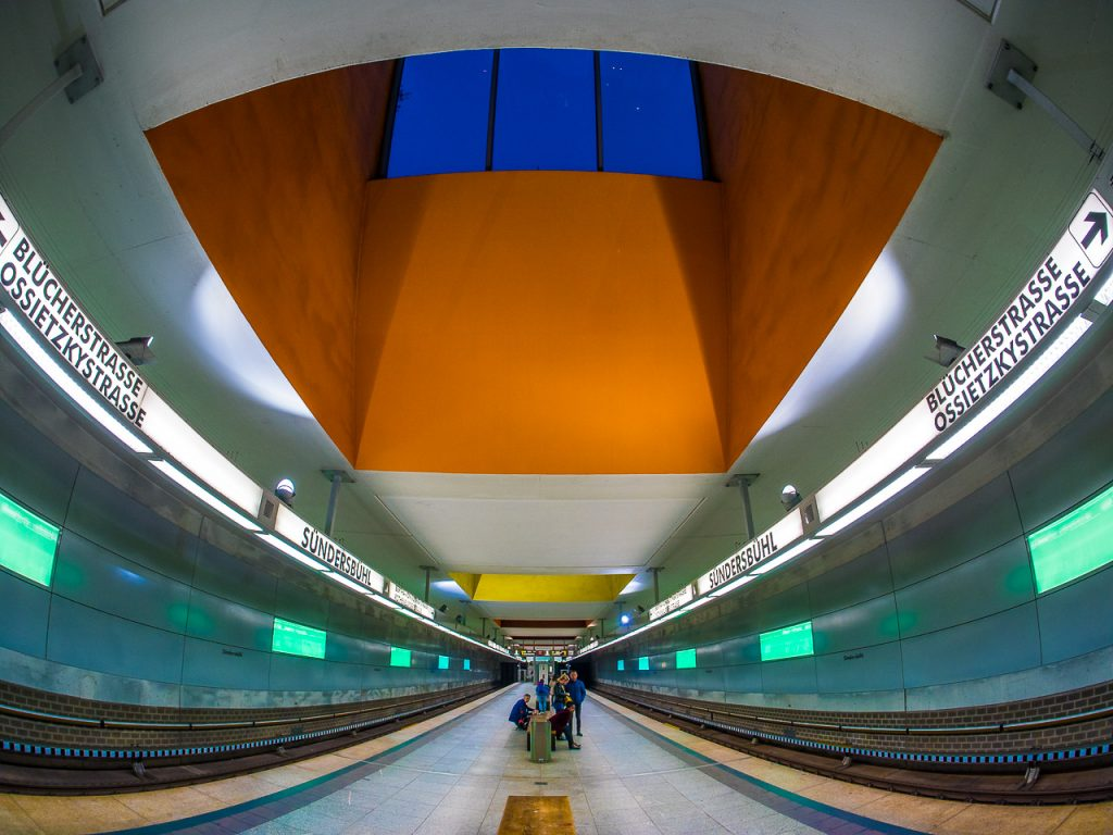 Fisheye view of Sündersbühl Subway Station