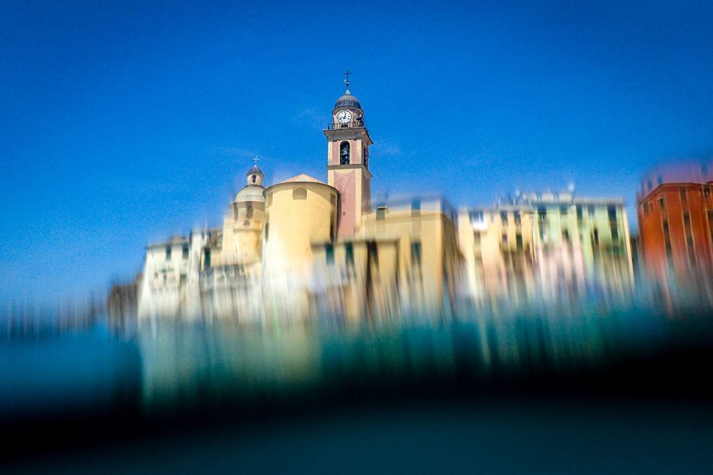 Camogli Church seen from a submerged camera