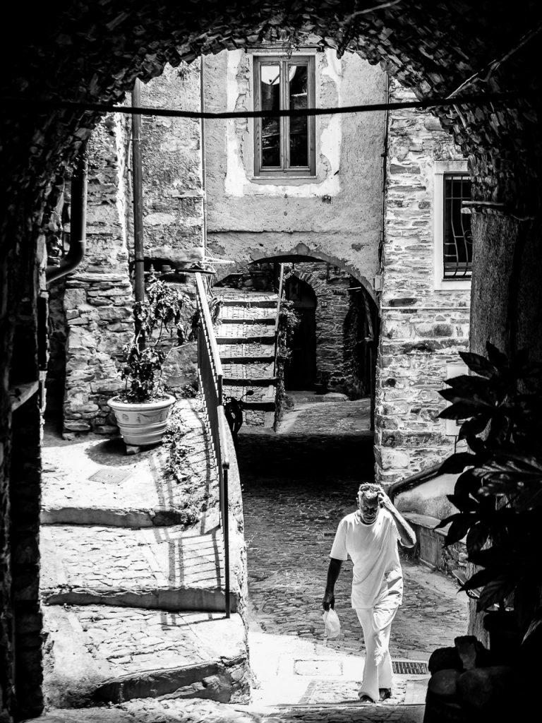 Romantic alleyway in Montalto Ligure