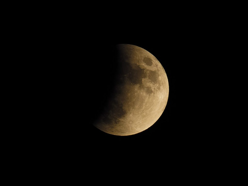 Telefoto of the partial lunar eclipse on July 16th 2019