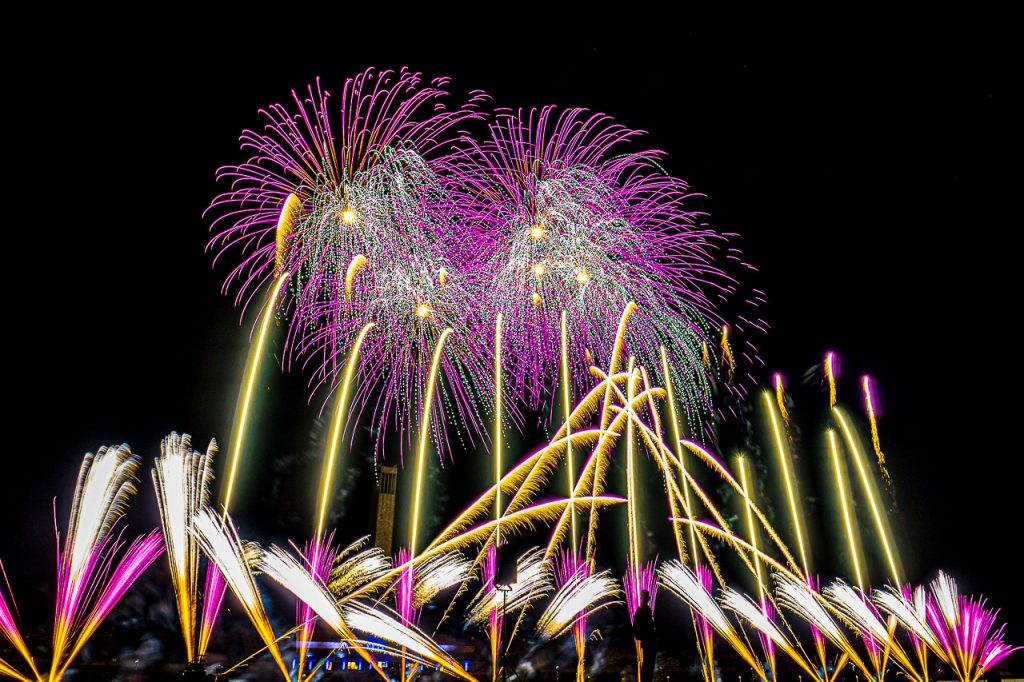 Fireworks at Berlin Pyronale
