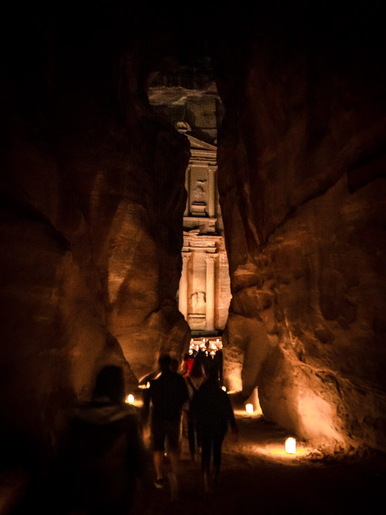 Al-Khazneh - the Treasury - in ancient Petra, Jordan