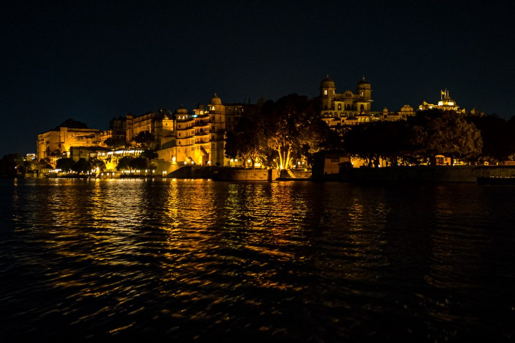 Udaipur City Palace by Night