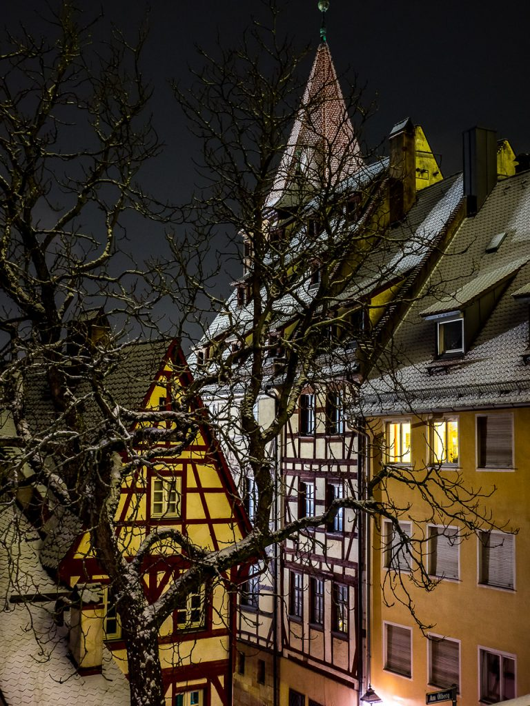 Frozen Houses in Nuremberg Oldtown