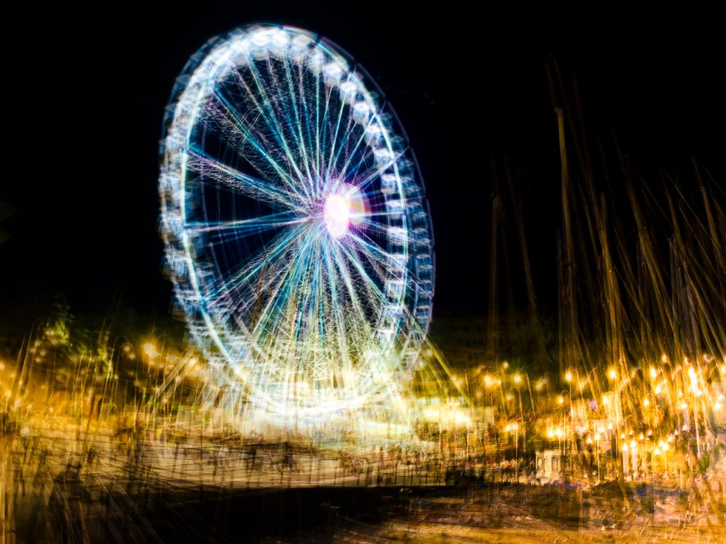 Multiexposure Genoa Ferris Wheel