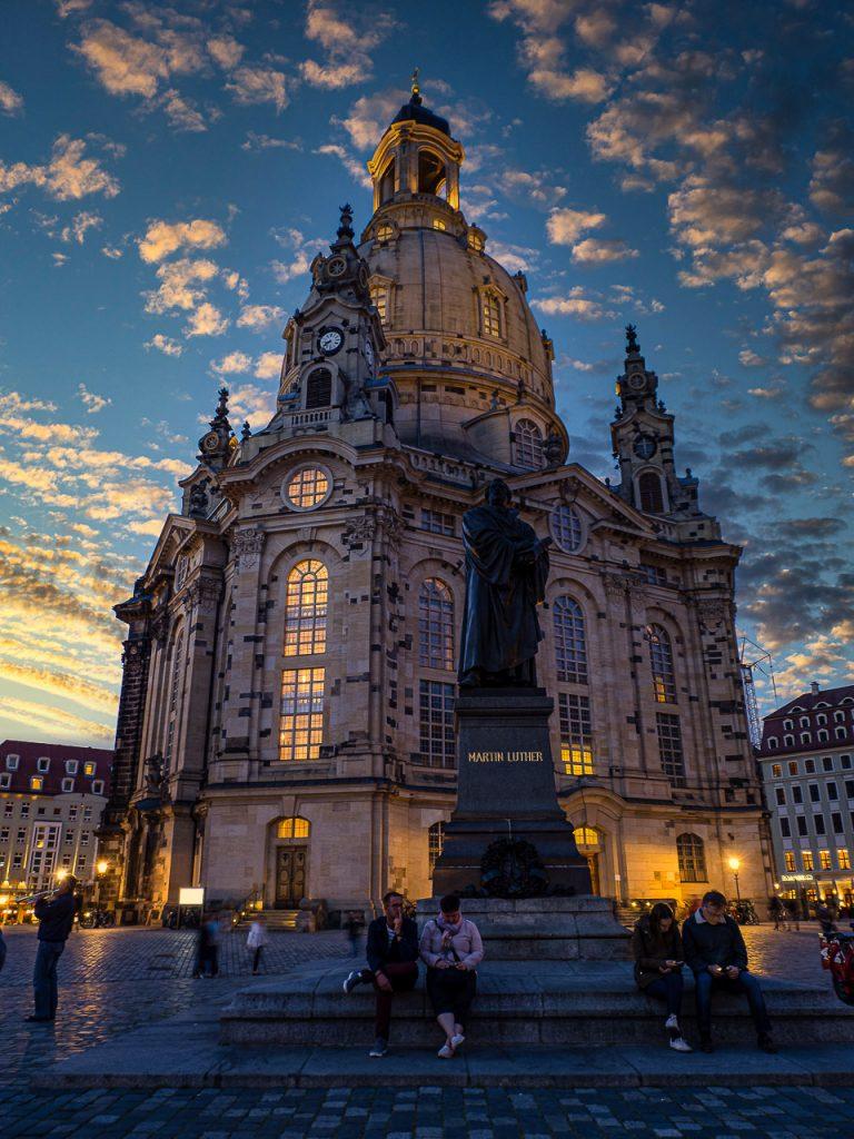 Frauenkirche Dresden at sunset