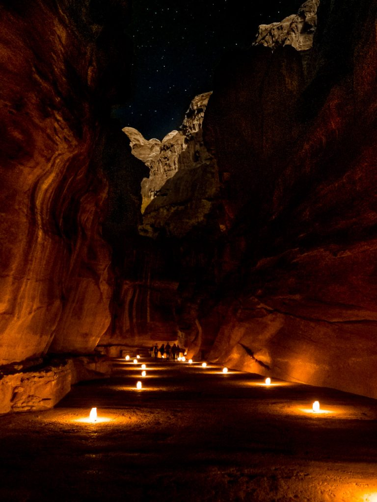 The Siq under a starry sky - Petra