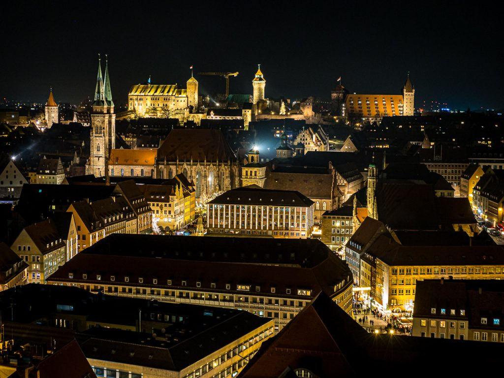 Nuremberg Old Town Skyline by Night