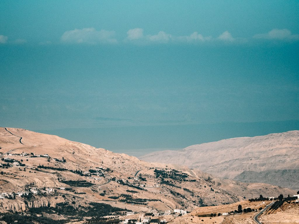 Dead Sea seen from Kerak Castle