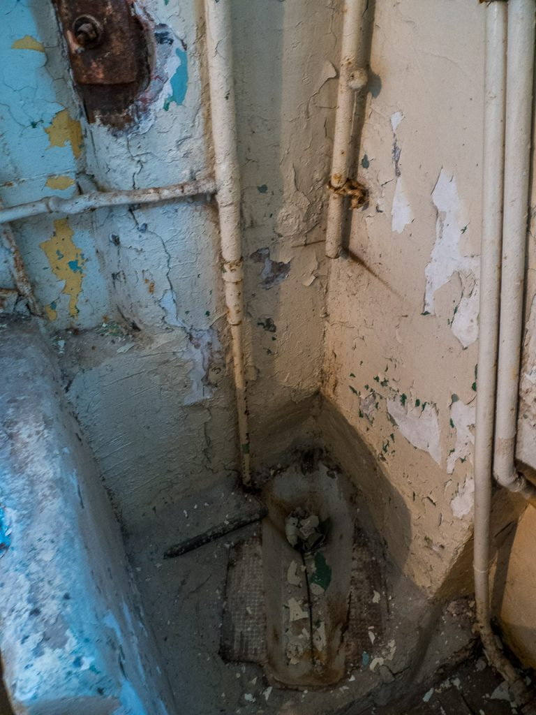 Patarei Prison - cell toilet