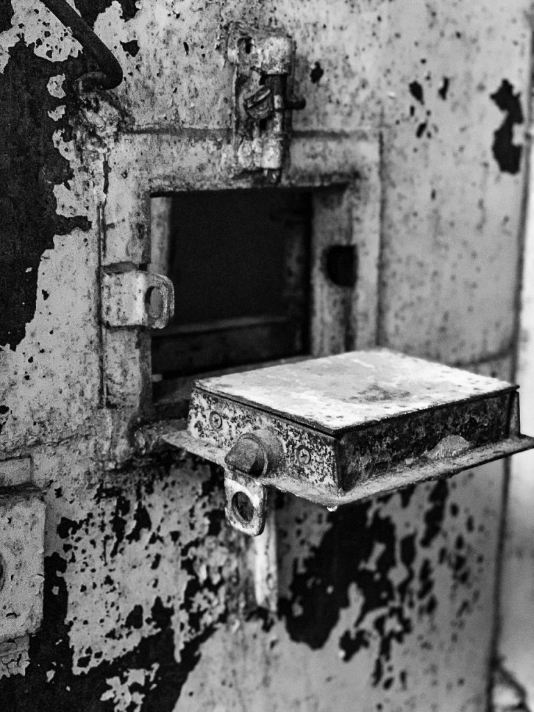 Patarei Prison - food flap in prison door