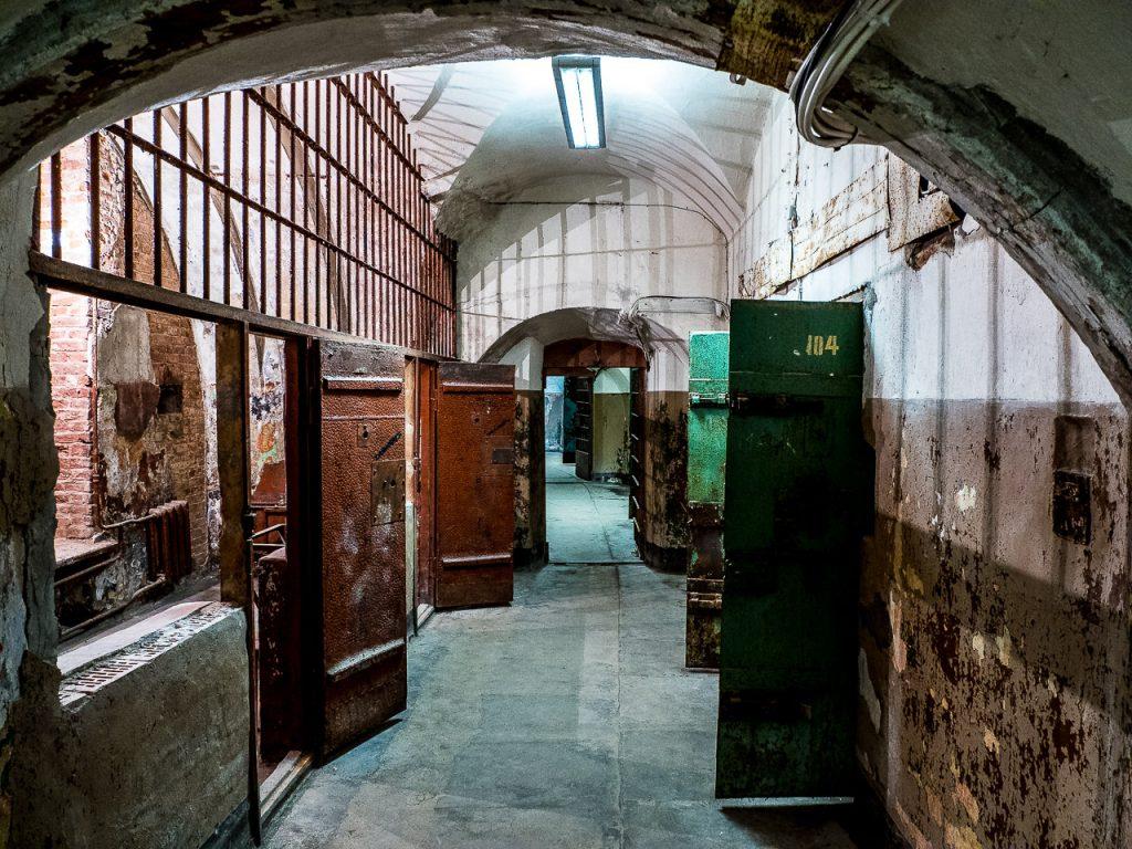 Patarei Prison - processing block hallway