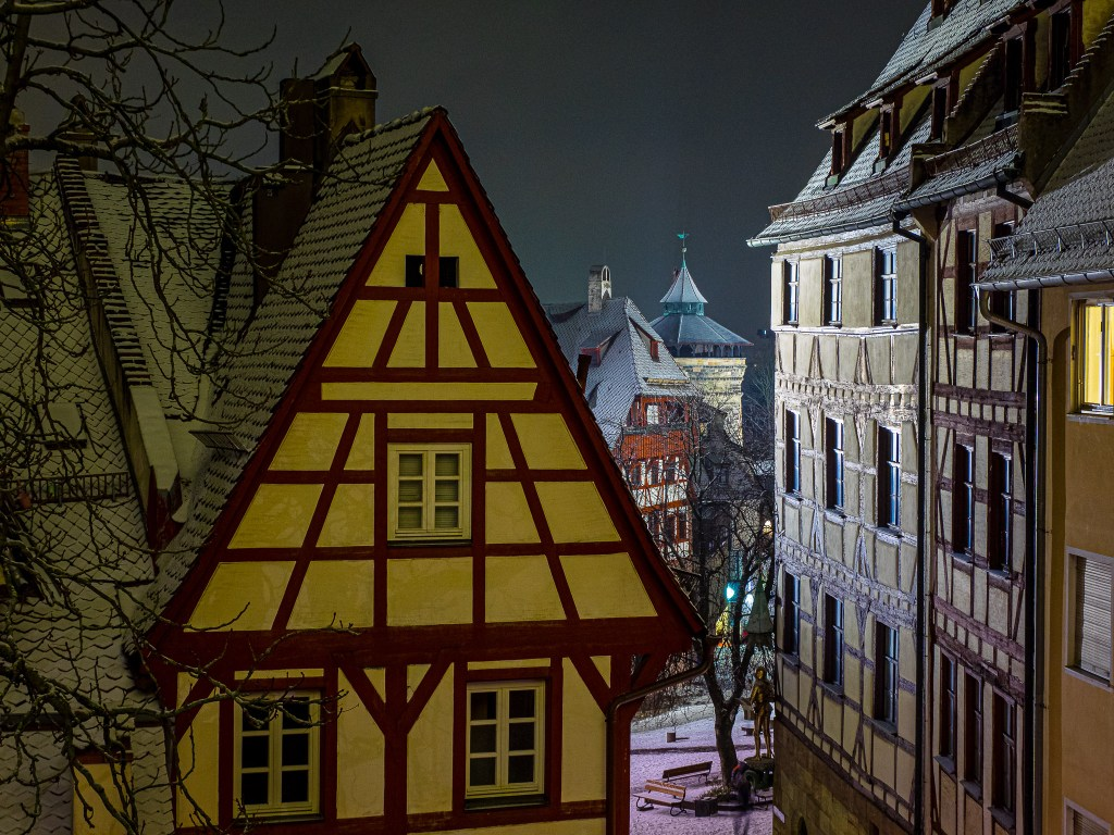 Nuremberg Old Town in the Snow